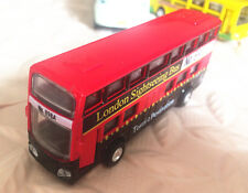 1 pcs Alloy Bus Model Pull Back Vehicles Kids Toy Car Double-decker Bus 1:64-R