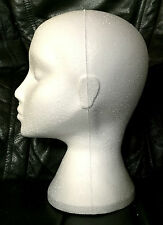 Polystyrene Female Display Mannequin Head Dummy Wig Holder Stand