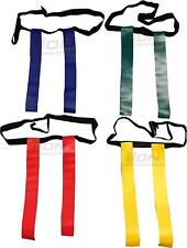 Rugby Tag Belt Red Blue Yellow Tags Junior Adult Adjustable Training Aid Pack 10