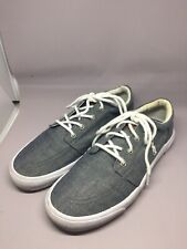 POLO RALPH LAUREN GREY VAUGHN CASUAL SHOES KIDS GS SZ 6-7  90784