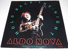 "Aldo Nova - Hold Back The Night 12"" EP Vinyl 1983 Ltd Tour Edition Promo RARE"