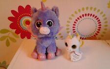 Ty Beanie Boo Boos ATHENA Unicorn Wings Claires Soft Toy PEGASUS Key Clip Bundle