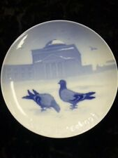 "Bing & Grondahl / B&G 1921  Christmas Plate "" Pigeons in the Court "" Free S&H"