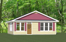 28x32 House -- 2 Bedroom 1 Bath -- 896 sq ft -- PDF Floor Plan -- Model 3N