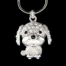 Saint Bernard English Mastiff Puppy Dog made with Swarovski Crystal Necklace New
