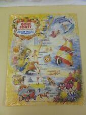 Vtg Souvenir Gold Coast Australia Jig Saw Puzzle by Peter Grose (165 pcs)*as new
