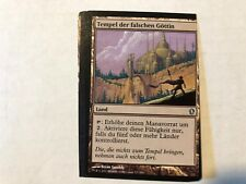 Miscut Temple of the False God German Misprint MTG GENUINE EDH Commander Magic