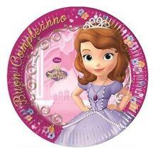 Piatti  Carta  Principessa Sofia 19 cm , Festa Compleanno PS  07778