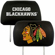 Chicago Blackhawks 2-Pack Auto Car Truck Embroidered Headrest Covers