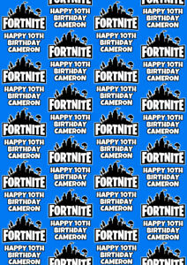 FORTNITE Personalised Gift Wrap - Fortnite Floss Like A Boss Wrapping Paper