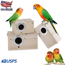 New listing Wooden Cage House Breeding Box Nest For Pet Bird Parrot Parakeet Cockatiels Usa