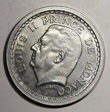 Piece de 2 Francs 1943 Monaco. Prince Louis II. Alu   KM121  Aca969