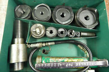 Greenlee 7310sb Hydraulic Knockout Punch Set With Metal Case Complete Tested