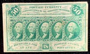 1862 US Postage Stamps Note #100 50c Heads of Washington imperf.