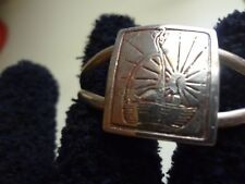 VINTAGE BABY BASKET AND SUN STERLING SILVER CUFF BRACELET-NAME OF MAKER
