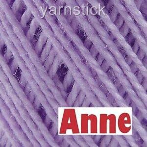 Circulo ANNE 500 6140_PALE VIOLET Crochet Cotton Knitting Thread Yarn #3 500M