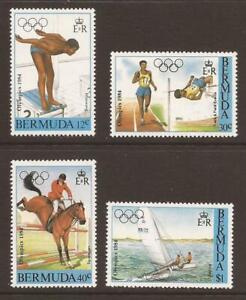 BERMUDA 1984 SG478/481 Olympic Games, Los Angeles MNH (JB18250)