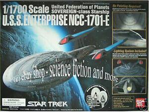 STAR TREK - ENTERPRISE-1701 E Modell Bausatz Bandai neu