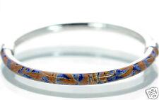 Milor Italy Solid 925 Sterling Silver Enamel Cuff Bangle Bracelet '