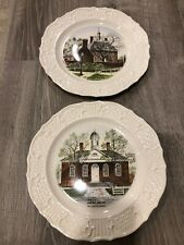 Williamsburg, VA Plates 'Governor's House' & 'Court House' by S.P. Skinner Co.