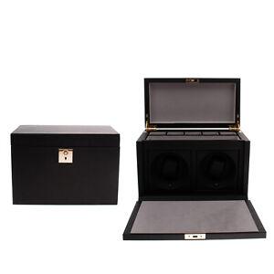 RRP €2810 SMYTHSON Grosvenor Leather Rotary Watch Box Cufflinks