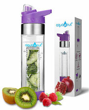 Aquafrut Bottom Loading Fruit Infuser Water Bottle (24oz, Purple) USA Seller!