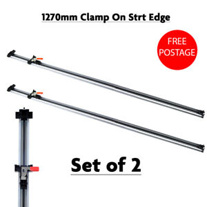 2pc Guide Clamp Dual Rail Board Guide Jigsaw Router Bench Cramp Straight Edge