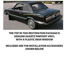 CHRYSLER LEBARON CONVERTIBLE TOP DO IT YOURSELF PACKAGE 1982-1983