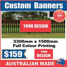 Custom Outdoor Vinyl Banner Sign - 3300mm x 1500mm - Australian Made