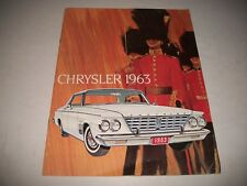 1963 CHRYSLER WINDSOR NEW YORKER SARATOGA CDN. SALES BROCHURE CATALOGUE 12 PAGES