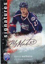 07-08 BE A PLAYER BAP SIGNATURE AUTOGRAPH AUTO MANNY MALHOTRA BLUE JACKETS 33837