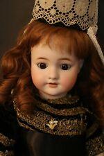 Antique Simon & Halbig Cm Bergmann German Bisque Doll, 22 In Antique German Doll