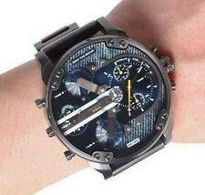Nuevo DIESEL DZ7331 Mr Daddy 2.0 Acero Inoxidable Reloj con Cronógrafo Para Hombre Gris Plomo