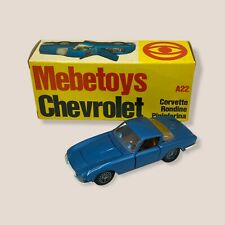 Mebetoys Italy 1/43 Diecast Chevrolet Corvette n. A22 Collectible Model Car