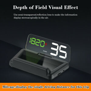 T900 Universal Car LED GPS Speed Water Temperature HUD Head-up Projector Durable