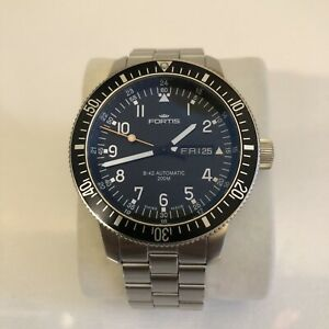 Fortis Official Cosmonauts Automatic Watch 647.10.158 B-42 Stainless Steel