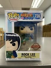 Funko Pop Naruto Rock Lee #739 Special Edition Sticker W/ Protector In Stock