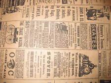 LOT 50 6x9 Newspaper print Paper Kraft Bags,Vintage style Newsprint Favor Craft