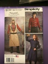 Simplicity Pattern 8235 Mens coat jacket costume 46-52 chest  NEW