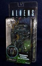 "Aliens Series 12 XENOMORPH WARRIOR (BATTLE DAMAGED) BLUE 7"" Scale Figure NECA"