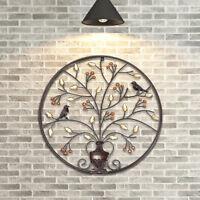 24.4inch Wall Art Hanging Metal Iron Sculpture Decor Garden Black Tree Of Life