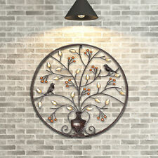 24.4inch Wall Art Hanging Metal Iron Sculpture Decor Garden Black Tree Of Life