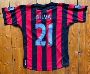 Manchester City FC 2011 Umbro Away Shirt - SILVA 21 - Mens Small