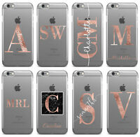 Personalised Name Initials  iPhone 5 6 6s 7 8 Plus X Phone Case Cover #40