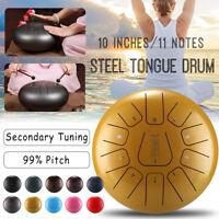 10'' Tongue Drum Handpan Hand Pan D Major 11 Notes Tankdrum With Bag Mallets HH