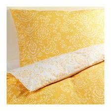 Ikea Akertistel Duvet Cover Yellow White Floral Reversible  Full / Queen NEW