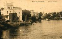 AK Hamburg Uhlenhorst 1911 Villen am Feenteich - Schwäne
