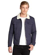 NWT SLATE & STONE Fulton in Navy Herringbone Wool Sherpa Lined Jacket XL $345