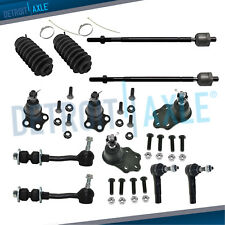 Inner Outer Tie Rods w//Rack Boots 12pc Kit for 2011-2015 Dodge Durango Jeep Grand Cherokee Complete Front Lower /& Upper Control Arm w//Ball Joints