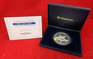Rare 2008 Silver Proof 5oz Britannia Commemorative RAF Spitfire  £10 Ltd Etd 450